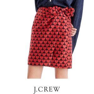 J. Crew Castlebar Snuggle Heart Skirt Size 6 NWT